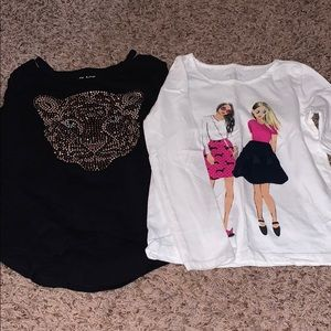 Lot of (2) Girls Children's Place Tshirts